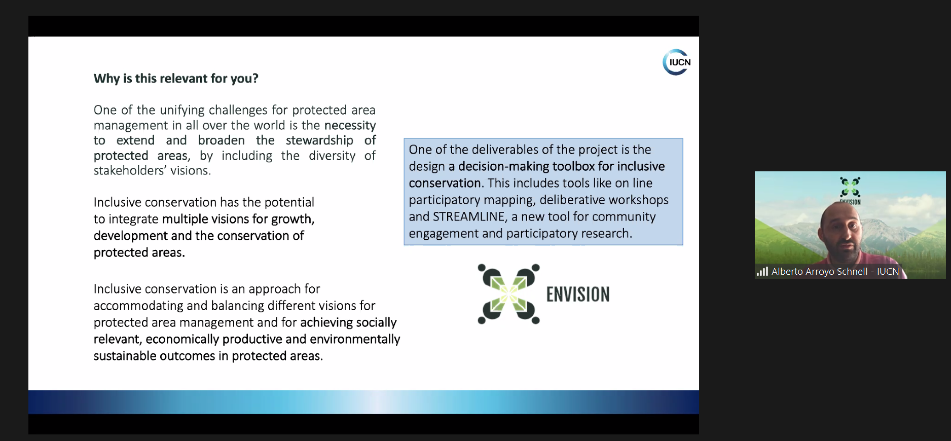 ENVISION at the EUROPARC 2020 Online Conference